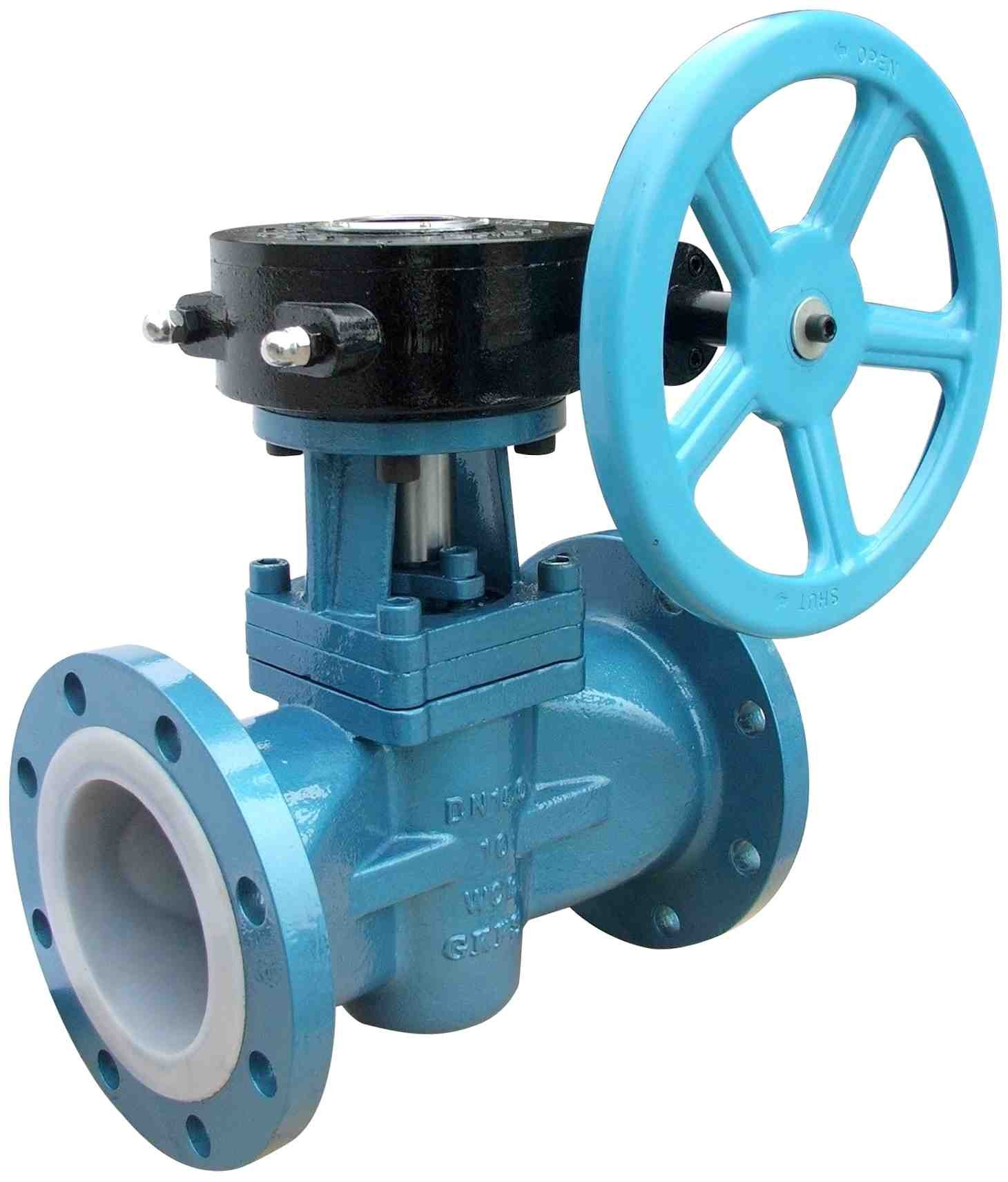 Soft Sealing Gas Lubricated  Plug Valve PN160 , Electric Or Pneumatic Plug Valve